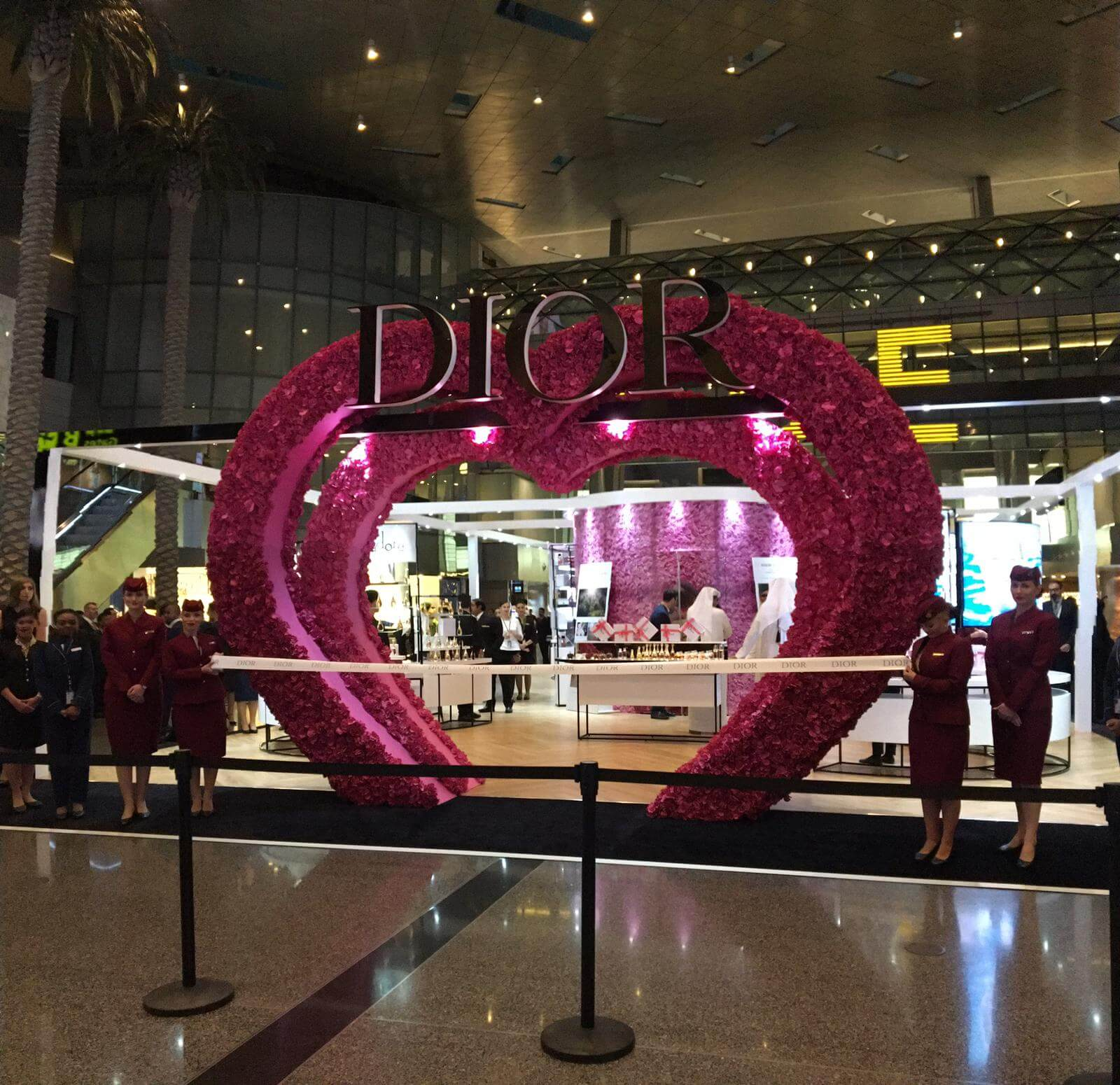 Photo of Opening of Dior Les Parfums At Hamad Internation Airport.