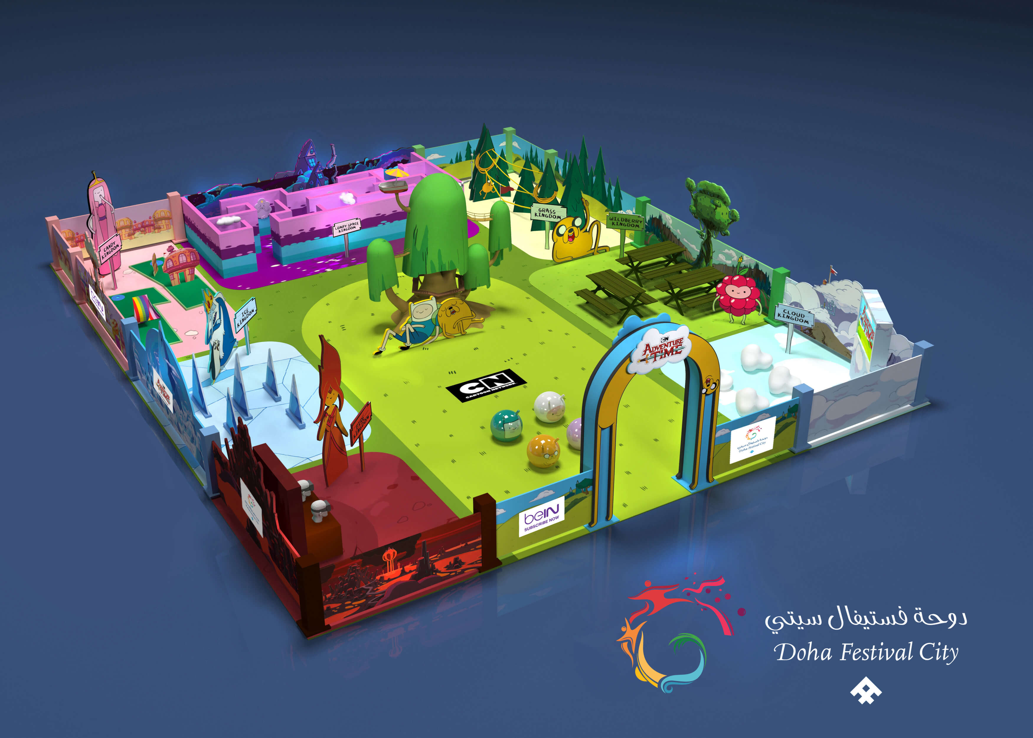 """Photo of DOHA FESTIVAL CITY LAUNCHES """"ADVENTURE TIME""""."""