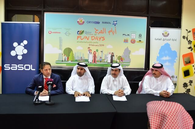 """Photo of The MME, Sasol, and ORYX GTLlaunch """"Fun Days with Qatar e-Nature"""" at 7 Public parks"""
