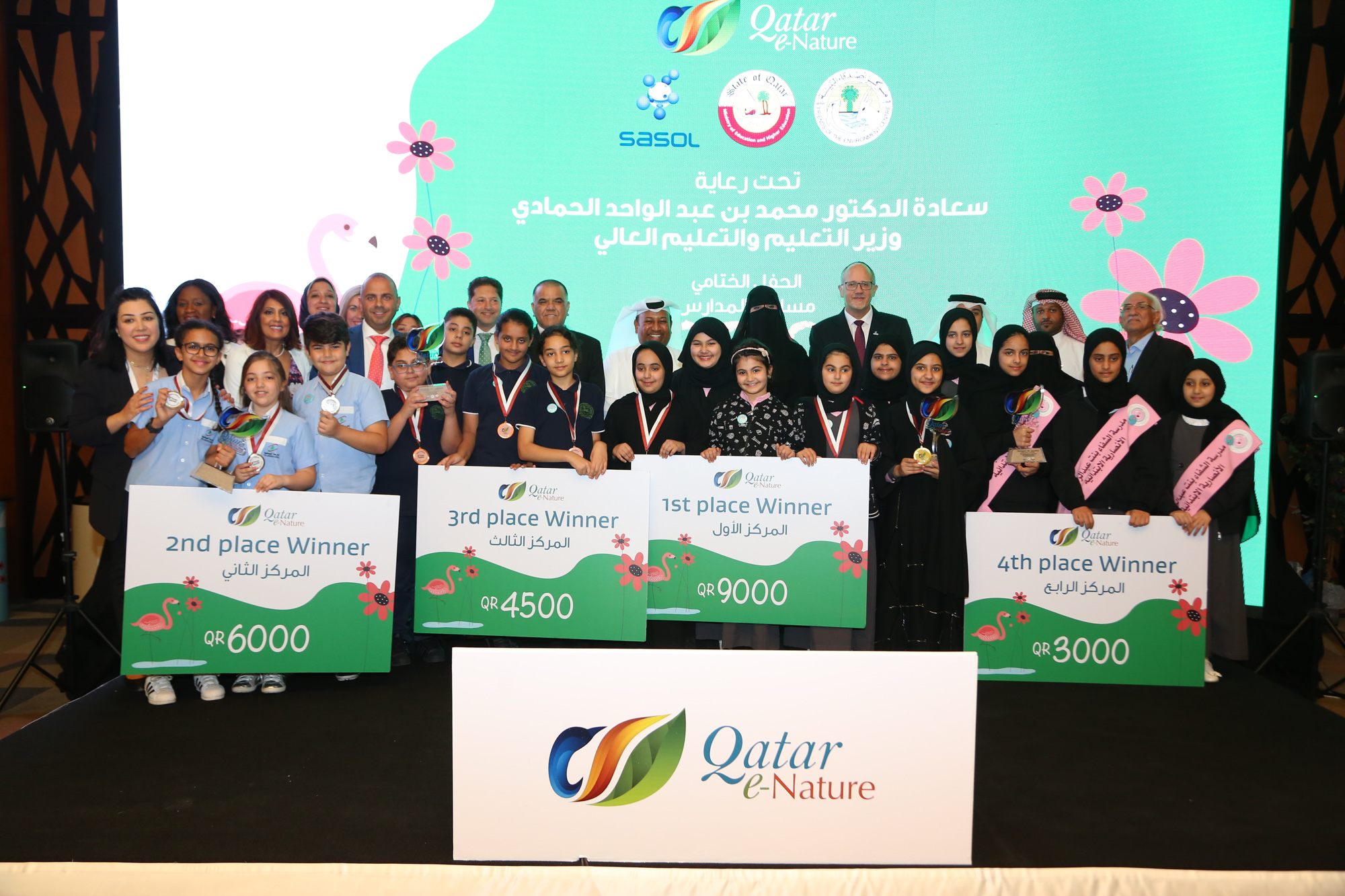 Photo of Ministry of Education and Higher Education, Sasol and FEC Honor Winners of Qatar e-Nature Schools Contest 2019