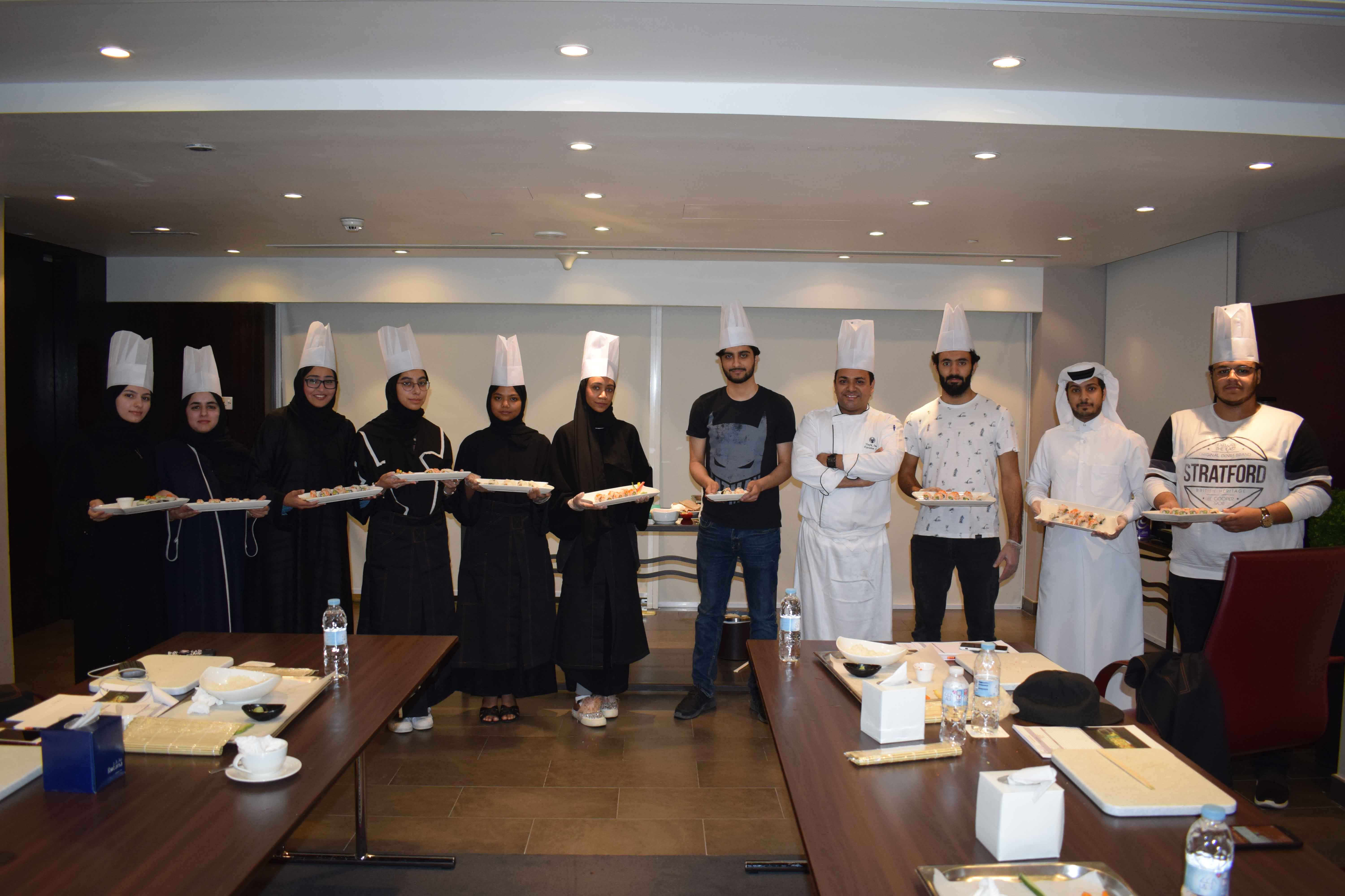 Photo of Centro Capital hosts sushi masterclass for QU's Japanese Club