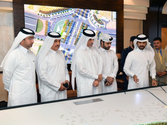 Ashghal Doha Tiled Intersection opening