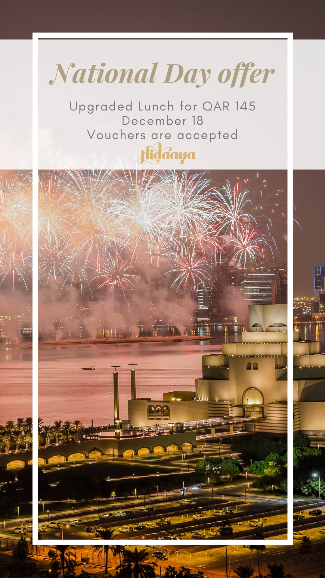 Crowne Plaza Doha West Bay National Day