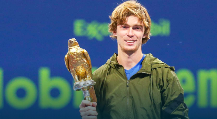 Photo of Andrey Rublev's First Victory In 2020