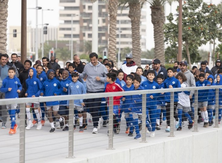 Photo of His Highness Emir Sheikh Tamim Participates in National Sports Day Activities