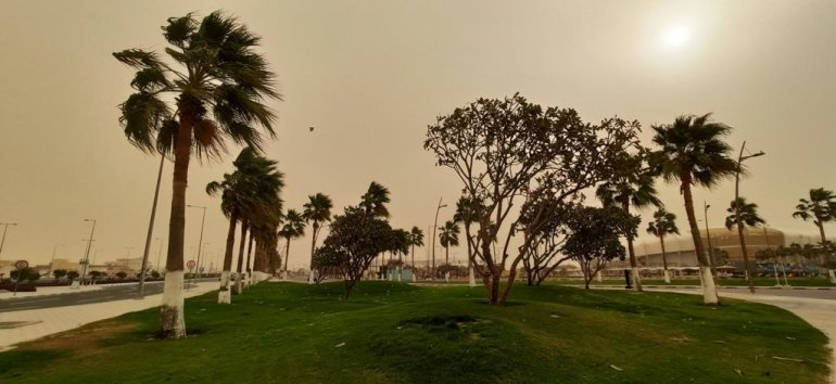 Photo of Dust Storm Across Qatar