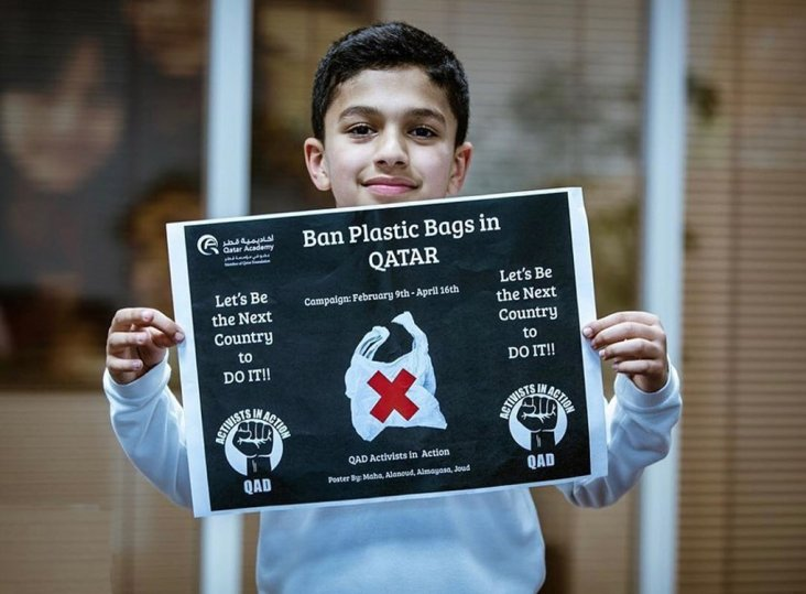 Photo of Young Activists in Qatar Call for Action Against Plastic Bags