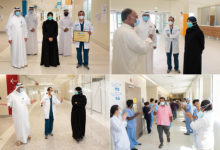 Photo of Minister of Public Health Meets Recovered Patients as Ras Laffan Hospital Discharges its Last COVID-19 Patients