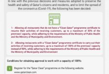 Photo of MOCI Issues Guidelines For Opening Of Restaurants In Phase 4 Of Lifting Restrictions
