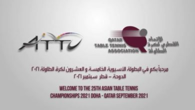 Photo of Qatar Table Tennis Association: Qatar To Host Asian Championships In 2021
