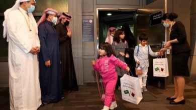 Photo of Saudi Plane Touches Down In Qatar To Warm Welcome