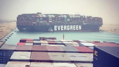 Photo of Suez Canal Blocked By a Massive Ship