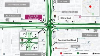 Photo of Fereej Al Ali Intersection On D Ring Road To Partially Open