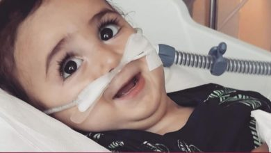 Photo of Amir Tamim aids 2-year-old Libyan child with rare disease