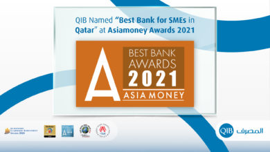 """Photo of Qatar Islamic Bank Named """"Best Bank for SMEs in Qatar"""" at Asiamoney Best Bank Awards 2021"""